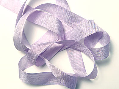 "Woven Edge Rayon Ribbon, 1/2"" - tropic lilac"