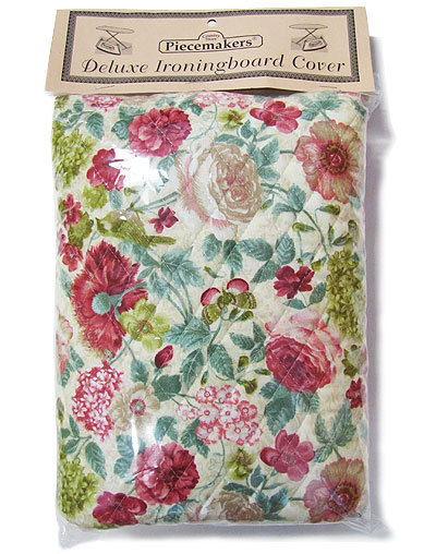 Deluxe Ironing Board Cover – Green and Rose (reversible)