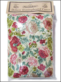 Deluxe Ironing Board Cover – Green and Rose (reversible)_THUMBNAIL