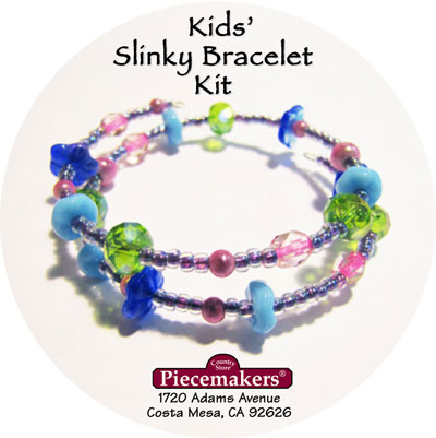 Kids' Slinky Bracelet Kit 1 – Blue, Green and Pink_MAIN