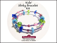 Kids' Slinky Bracelet Kit 1 – Blue, Green and Pink