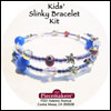 Kids' Slinky Bracelet Kit 2 – Blue, Red and Silver Mini-Thumbnail