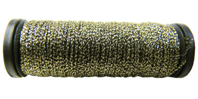 Kreinik #8 Braid - 205C Black/Gold