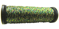 Kreinik #8 Braid - 070 Green/Gold/Purple