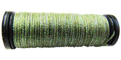 Kreinik #8 Braid - 5735 Leaf Green Sparkle