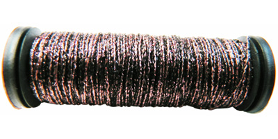 Kreinik #8 Braid - 2122 Pink/Black