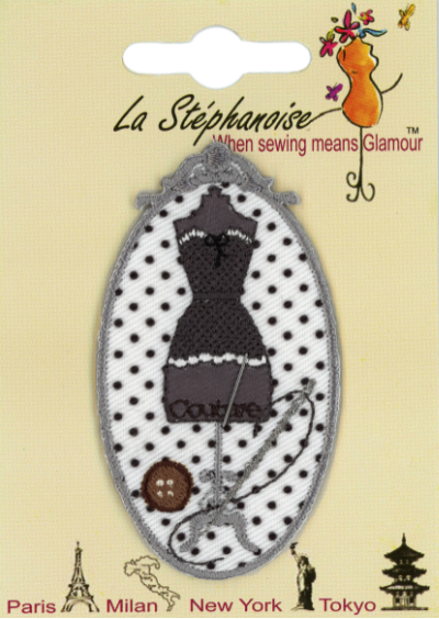 Dress Form Appliqué by La Stéphanoise - #15860 col. 005 - Gray_MAIN