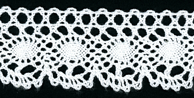"1 5/8"" Wide Crocheted Trim – White"