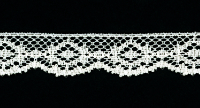 "3/4"" Wide Decorative Lace Trim – Cream"