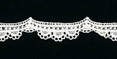 "1 1/8"" Wide Scalloped Lace Trim – Cream"