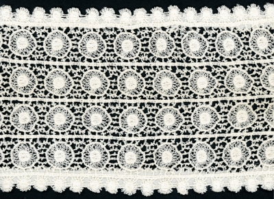 "5 3/8"" Wide Circular Pattern Lace Trim – Cream_MAIN"