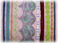 Laces, Trims & Ribbons in a Variety of Materials, Patterns & Colors
