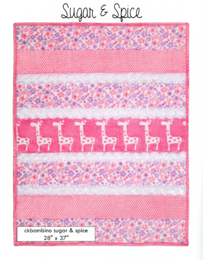 """Sugar & Spice"" Bambino Minky Strip Quilt Kit"