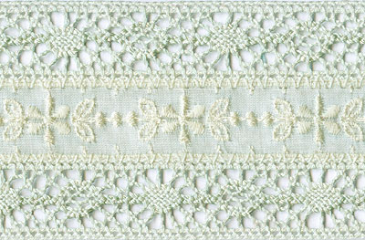 Dusty Mint Wide Eyelet with Fine Crocheted Edge - # S03359D col. 031