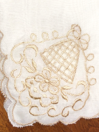 Vintage Embroidered Napkins – Cream with Beige Embroidery_THUMBNAIL