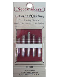 Piecemakers Betweens/Quilting Needles Size 5/10 Assorted