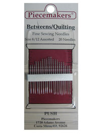 Piecemakers Betweens/Quilting Needles Size 8/12 Assorted