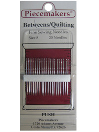 Piecemakers Betweens/Quilting Needles Size 8