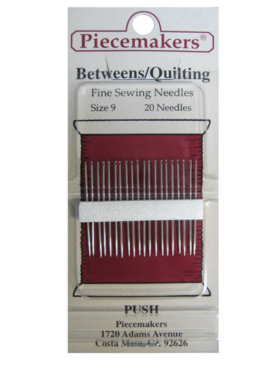 Piecemakers Betweens/Quilting Needles Size 9
