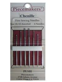 Piecemakers Chenille Needles Size 18/22 Assorted