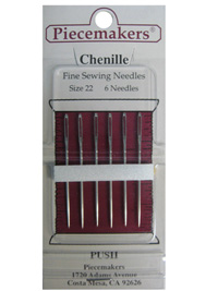 Piecemakers Chenille Needles Size 22