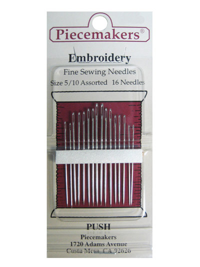 Piecemakers Embroidery Needles Size 5/10 Assorted