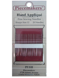 Piecemakers Hand Applique Needles Size 12