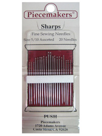 Piecemakers Sharps Needles Size 5/10 Assorted