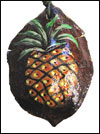 Hand Painted Jacaranda Pod Pendant Necklace — Pineapple Mini-Thumbnail
