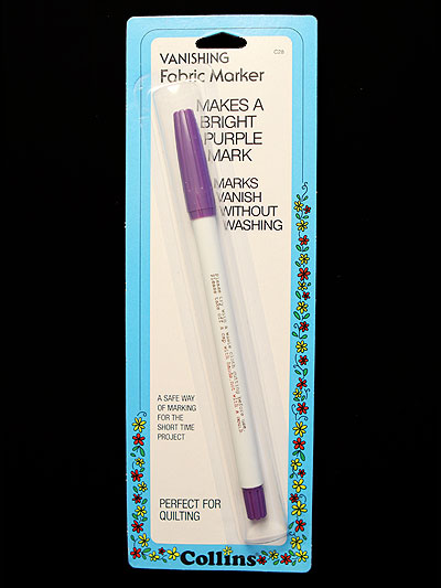 Collins Vanishing Fabric Marker - Purple