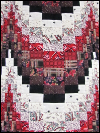 Bargello Wallhanging – Black, White & Red_SWATCH