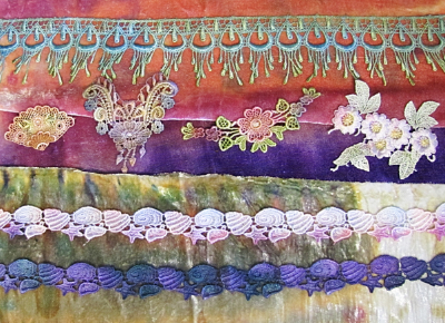 Applique, Trims and Lace Dyeing with Karen