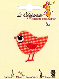 Red Bird Appliqué by La Stéphanoise - # 15420 col. 002