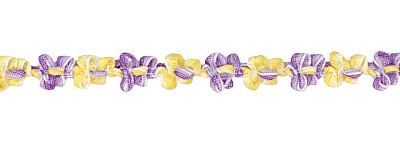 Purple and Yellow Rococo