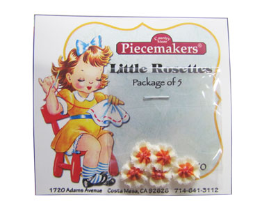 Little Rosettes by Piecemakers (5 per card) — B