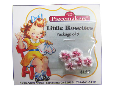 Little Rosettes by Piecemakers (5 per card) — E