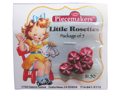 Little Rosettes by Piecemakers (5 per card) — F
