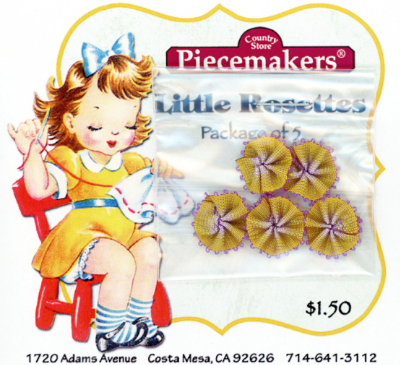 Little Rosettes by Piecemakers (5 per card) — O_MAIN