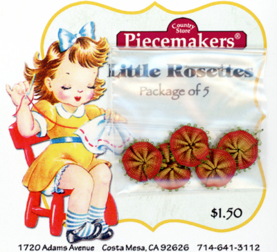 Little Rosettes by Piecemakers (5 per card) — P