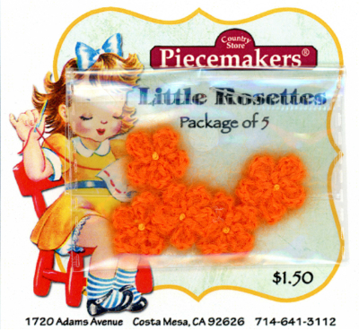 Little Rosettes by Piecemakers (5 per card) — S