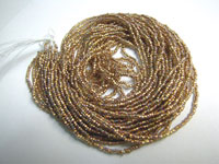 Seed Beads - Brass-lined Crystal - 11/0