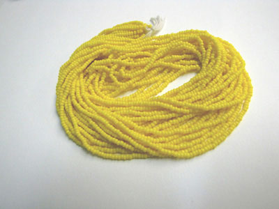 Seed Beads - Opaque Light Yellow - 11/0