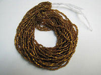 Seed Beads - Silver-lined Dark Topaz - 11/0