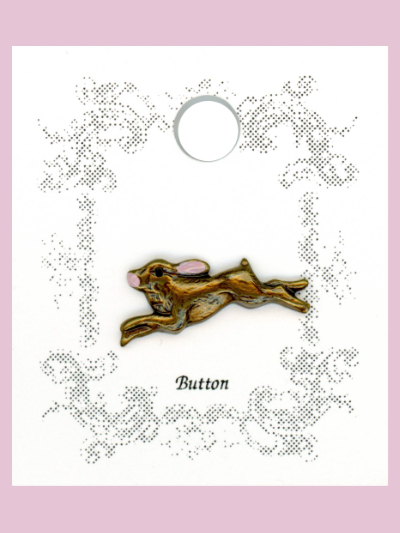 Susan Clarke - Leaping Rabbit Button