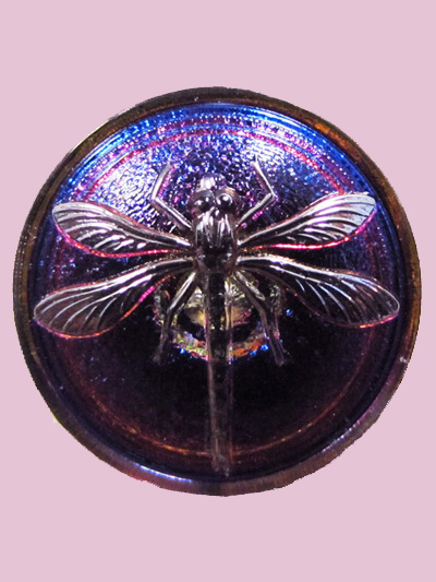 Susan Clarke - Purple Dragonfly Button