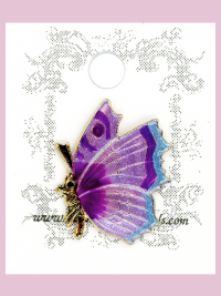 Susan Clarke - Purple and Blue Butterfly Button
