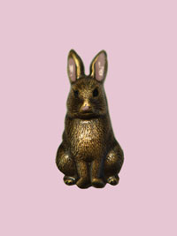 Susan Clarke - Sitting Bunny Button