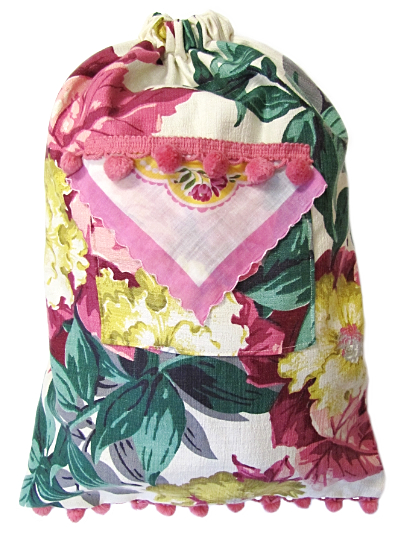 Schlepper Backpack – Pink, Cream, Green and Yellow Floral Print