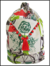 Schlepper Backpack – Red, Gray and Green Print Mini-Thumbnail