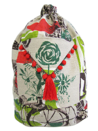 Schlepper Backpack – Red, Gray and Green Print